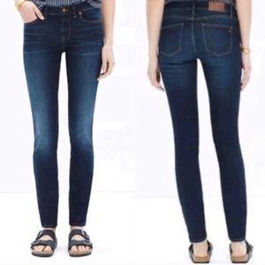 Madewell Skinny Skinny Jeans Lakeshore Sz 25